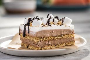 Pastel sin hornear estilo sandwichitos de malvaviscos y chocolate Image 1