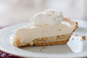 White Chocolate-Banana Cream Pie