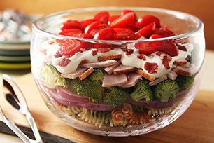 Creamy Turkey Club Pasta Salad