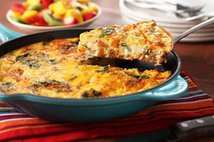Cheesy Frittata with Chorizo Image 1