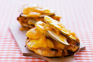 English Muffin with Apple and Cheddar Image 1