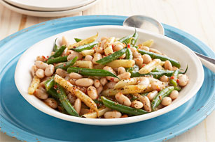Sun-dried Tomato-Three Bean Salad