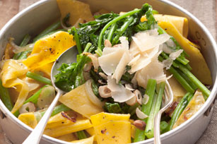 One-Pot Pasta with Broccoli Rabe, Hazelnuts and Parmesan Image 1