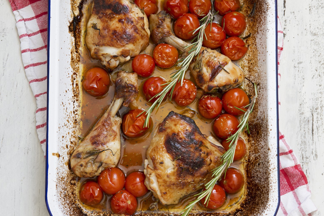 Roast Chicken and Tomatoes with Rosemary Image 1