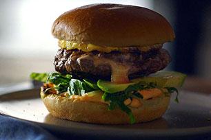 Spicy Habanero Cheese Stuffed Burger