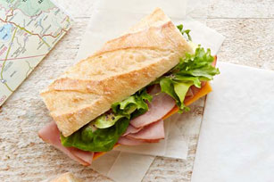 Ham and Cheddar Baguette Sandwich