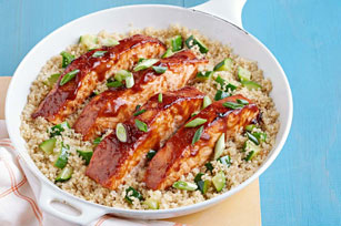 Barbecue Salmon with Zucchini and Quinoa