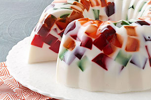 Creamy JELL-O Mosaic Dessert