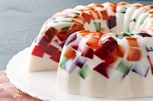 Cremoso postre mosaico de gelatina JELL-O