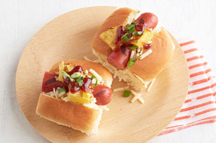 Grilled Pineapple-Barbecue Hot Dog Slider Rolls Image 1