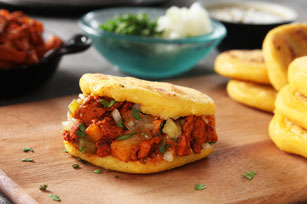 Arepas with Pork & Pineapple Salsa