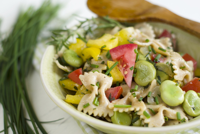 Bow-Tie Pasta Salad with Veggies