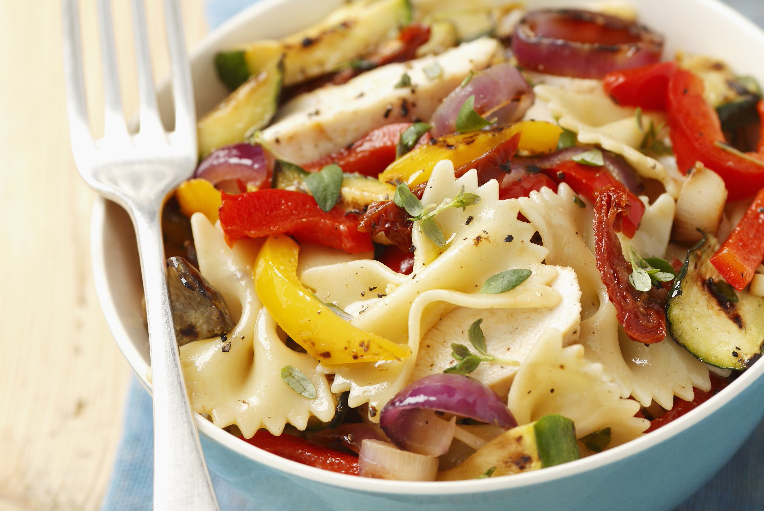 Chicken and Grilled Vegetable Pasta Salad Image 1