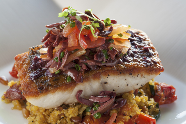 Grilled Fish and Vegetable Quinoa Medley