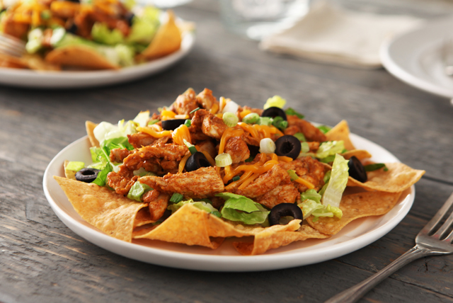 Warm Chicken Taco Salad Image 1