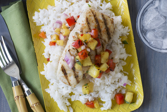Caribbean Fish with Pineapple Salsa Image 1