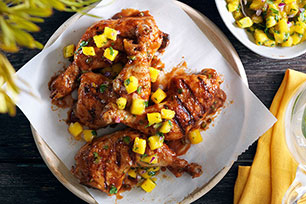 Grilled Jerk Chicken with Mango Salsa
