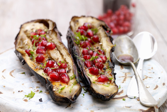 Grilled Eggplant with Pomegranate Image 1