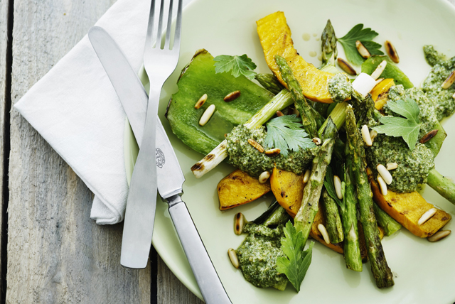 Grilled Vegetables with Pesto Image 1