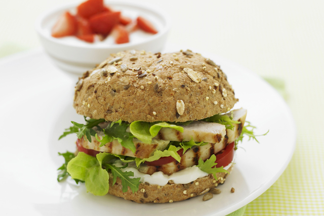 Grilled Caesar Chicken Burger Image 1