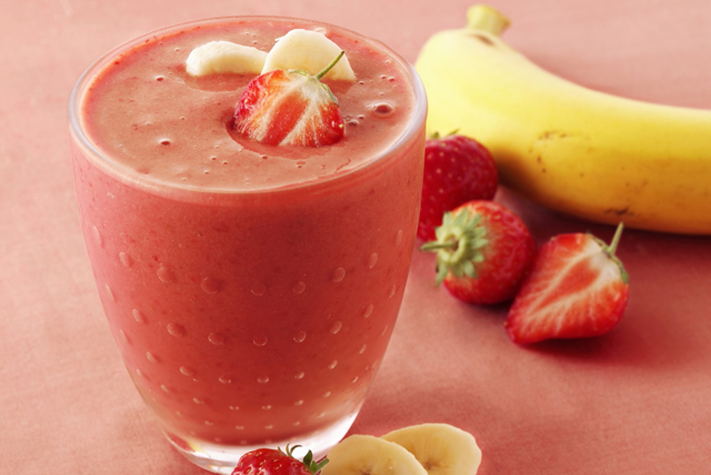 Coconut, Strawberry and Banana Yogurt Smoothie Image 1