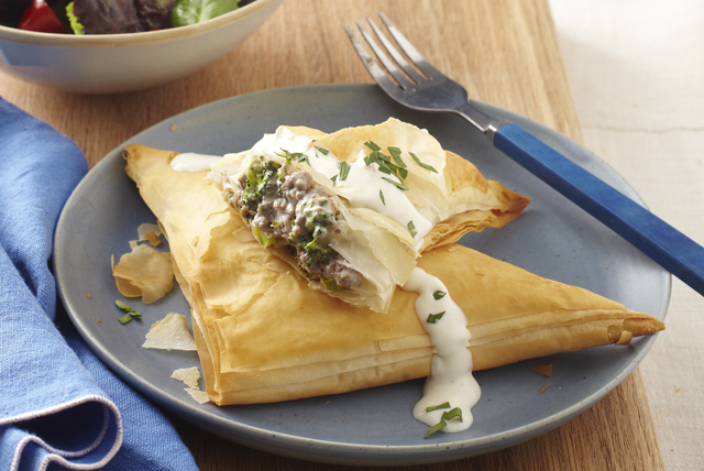Savoury Garlic Beef and Broccoli Turnovers Image 1