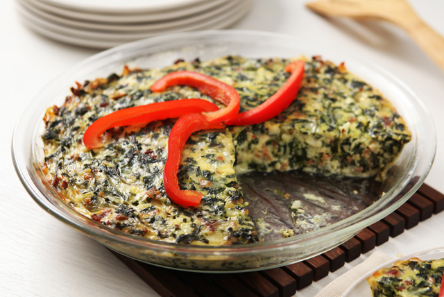 Easy Cheesy Spinach Bake