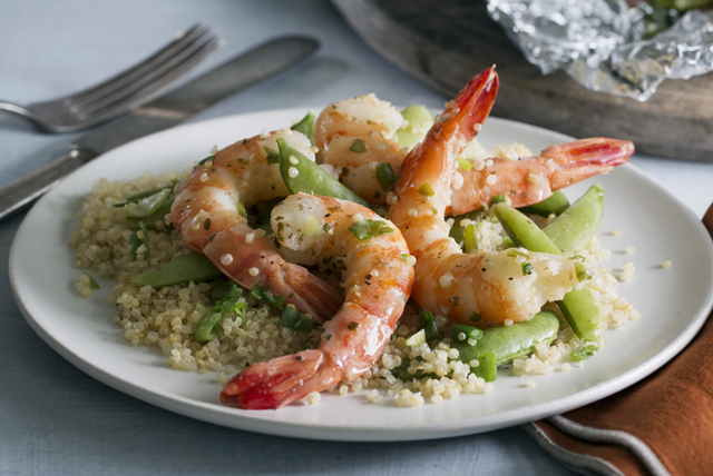 Zesty Lime Shrimp and Quinoa Bundles Image 1