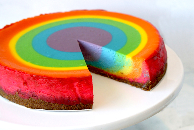 Rainbow Cheesecake Recipe - Kraft Canada