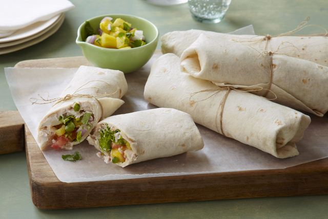 Salsa Chicken Wrap with Pineapple Salsa Image 1