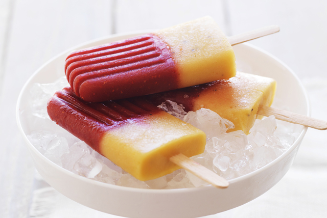 Raspberry-Mango Ice Pops Image 1