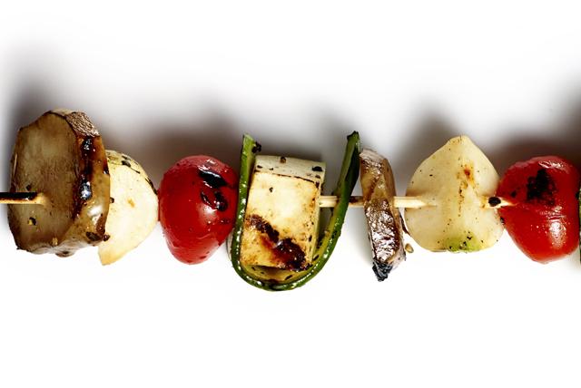 Brochettes de tofu et de légumes Image 1