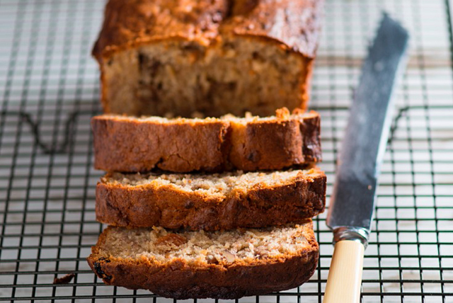Banana-Nut Bread with Flax