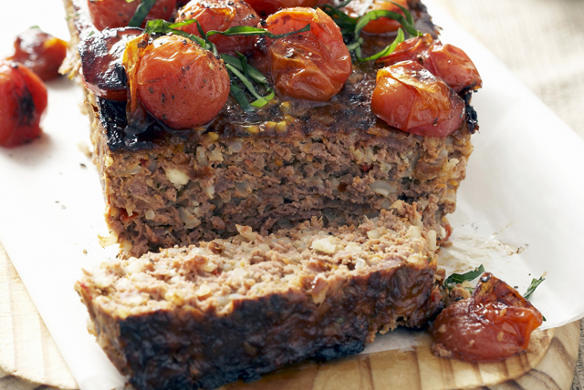 Turkey Meatloaf with Tomatoes, Mozzarella and Basil Image 1