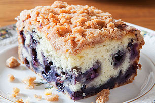 Wild Blueberry and Lemon Buckle Cake
