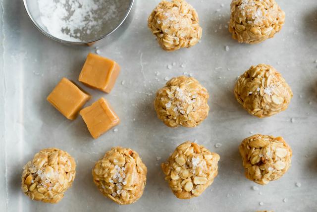 Salted-Caramel Peanut Butter Snack Bites