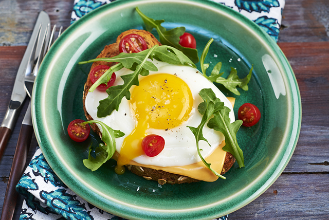 Open-Face Cheese and Egg Sandwich
