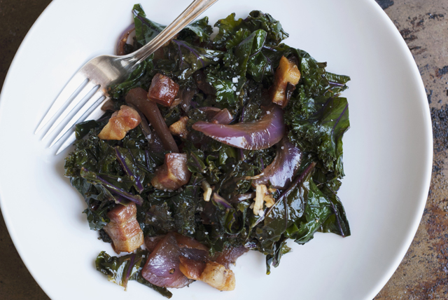 Warm Kale and Pancetta Salad Image 1