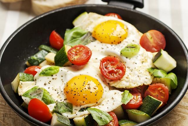 Zucchini-Tomato Egg Skillet Image 1