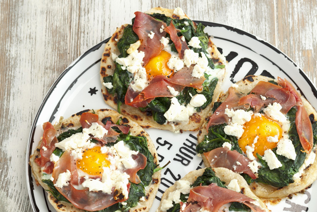 Tortilla-Egg Pizzas Image 1