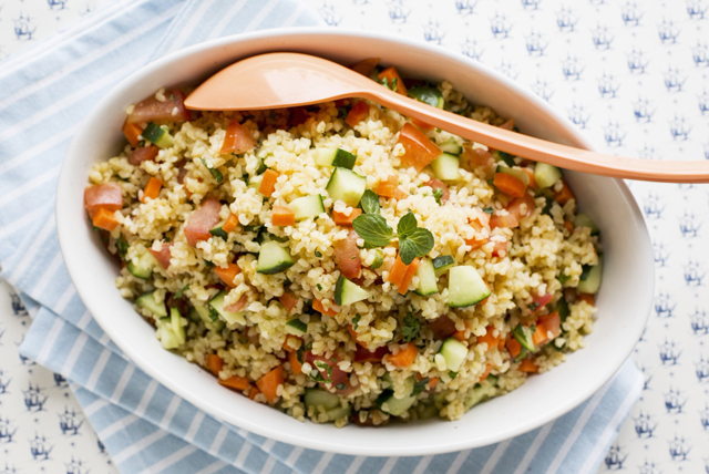 Bulgur Salad with Cucumber and Carrots