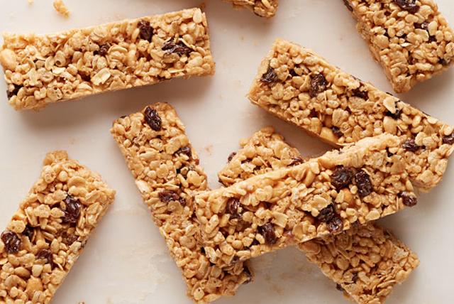 cómo hacer barras de granola masticable