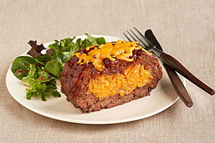 Mac and Cheese Stuffed Meatloaf