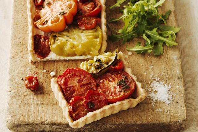 Tarte crémeuse aux tomates anciennes Image 1
