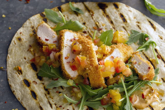 Chicken Tortillas with Mango Salsa Topping Image 1