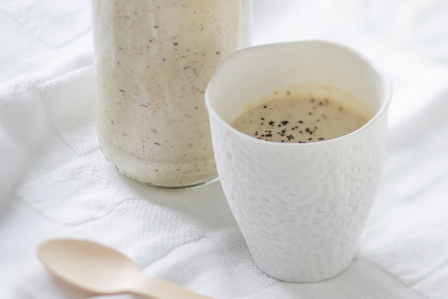 Lait fouetté au café, au beurre d'arachide et à la banane Image 1