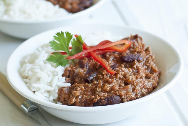Chili au bœuf et aux haricots prêt en 20 minutes Image 1