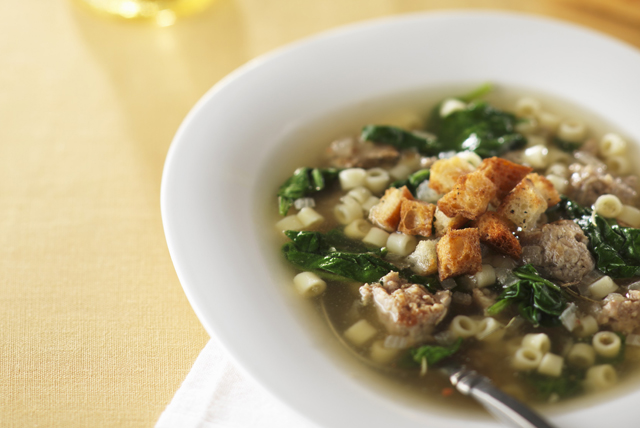 Easy Sausage and Pasta Soup Image 1