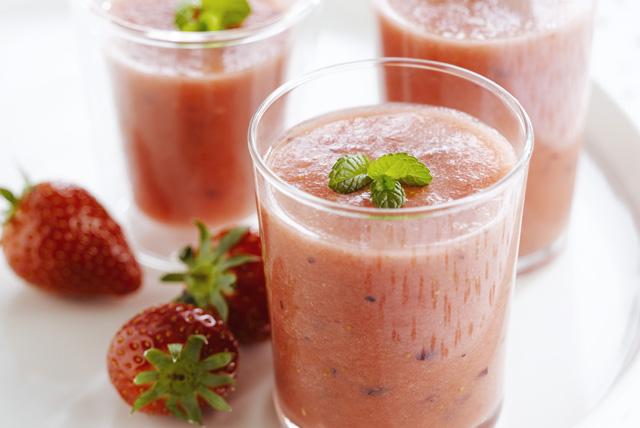 Boisson fouettée à la fraise et au melon d'eau Image 1