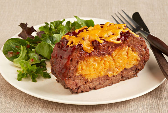 Macaroni and Cheese Stuffed Meatloaf Image 1